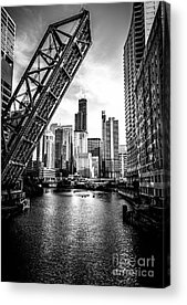 Chicago Black And White Acrylic Prints