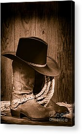 Straw Hat Acrylic Prints