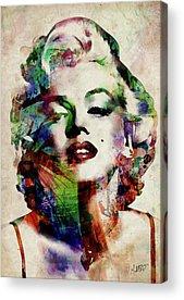 Marilyn Monroe Actress Acrylic Prints