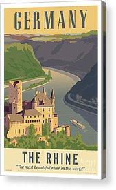 Rhine River Acrylic Prints
