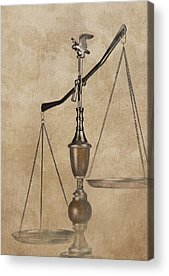 Scales Of Justice Acrylic Prints