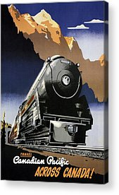 Canadian Pacific Montreal Vintage Canada Travel Wall Decor Art Poster Print