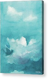 Turquoise And Brown Acrylic Prints