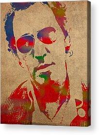 Bruce Springsteen Acrylic Prints