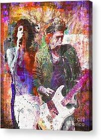 Rock N Roll Rolling Stones Acrylic Prints