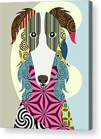 Russian Wolfhound Acrylic Prints