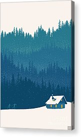 Cabins Acrylic Prints