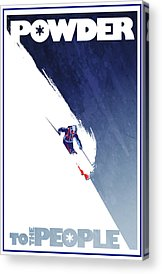 Skiing Art Acrylic Prints