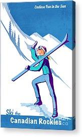 Snow Ski Acrylic Prints