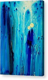 Blue Abstracts Paintings Acrylic Prints