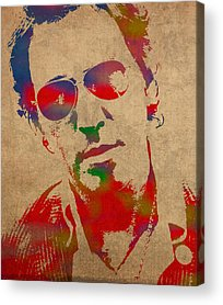 Bruce Springsteen Acrylic Prints
