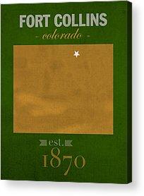 Fort Collins Mixed Media Acrylic Prints