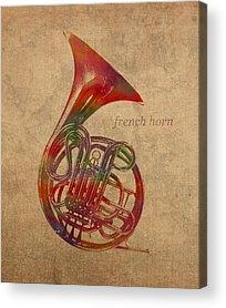 Horn Mixed Media Acrylic Prints