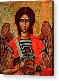 Greek Icon Paintings Acrylic Prints