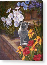 Daffodils Paintings Acrylic Prints