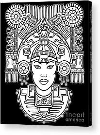 Tribal Woman Acrylic Prints