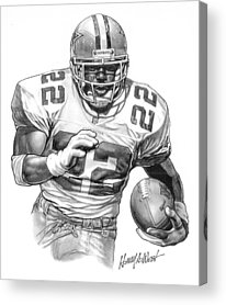 Sports Portrait Drawings Acrylic Prints