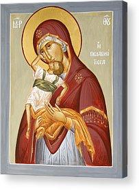 Theotokos Pelagonitisa Acrylic Prints