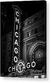Chicago Black White Acrylic Prints