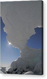 Sun Peeking Around Arch Acrylic Prints
