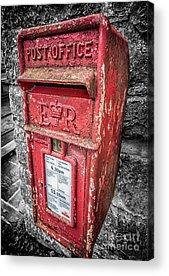 Mail Box Digital Art Acrylic Prints
