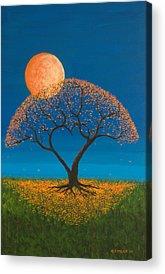 Orange Paintings Acrylic Prints