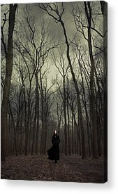 Black Magic Woman Acrylic Prints