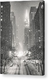 Winter Night Photographs Acrylic Prints