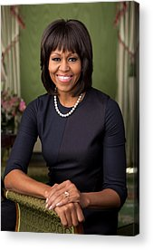 Michelle Obama Acrylic Prints
