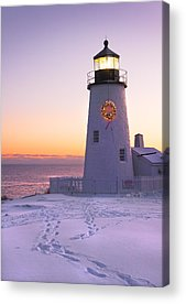 Winter In Maine Acrylic Prints