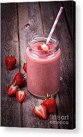 Strawberry Smoothie Acrylic Prints