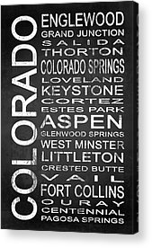 Fort Collins Digital Art Acrylic Prints