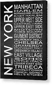 East Village Mixed Media Acrylic Prints