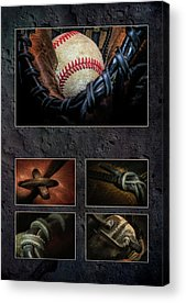 Baseball Gloves Acrylic Prints