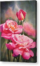 Floral Watercolor Acrylic Prints