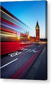 Red Bus Acrylic Prints