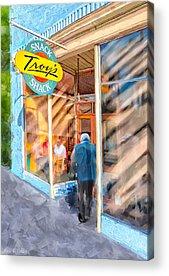 Small Towns Mixed Media Acrylic Prints