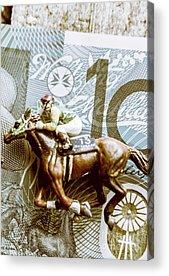 Race Horse Acrylic Prints