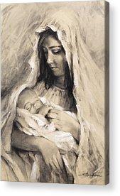 Infant Drawings Acrylic Prints