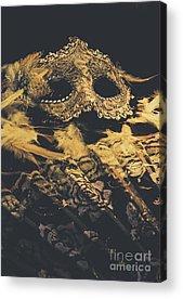 Life Mask Acrylic Prints