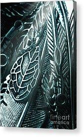 Silver Leaf Acrylic Prints