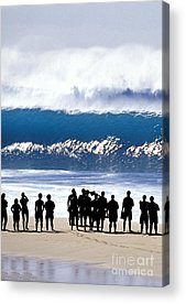 People On The Beach Acrylic Prints