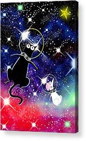 Outer Space Mixed Media Acrylic Prints