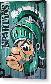 Basketball Abstract Paintings Acrylic Prints
