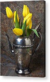 Brass Leafs Acrylic Prints