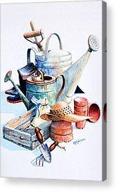 Spring Bulbs Paintings Acrylic Prints
