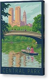Row Boat Digital Art Acrylic Prints