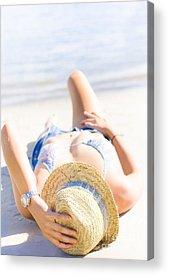 Designs Similar to Woman Sunbathing
