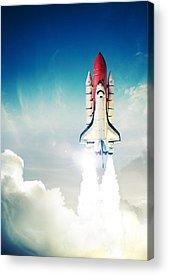 Space Shuttle Photographs Acrylic Prints