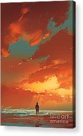 Loneliness Acrylic Prints